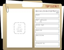 top secret report template i want to your original character oc you can the