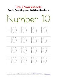 number 10 worksheets for preschool worksheets