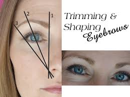 Shaping Eyebrows At Home Trimming And Shaping Eyebrows Shine By Heidi