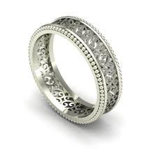 filigree wedding band wedding rings charles babb designs