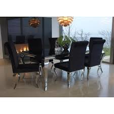 table and 6 chair set dining table extending black glass dining table and 6 chairs set