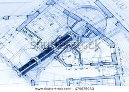 blueprint house plans architecture blueprints house plans stock photo 487077766