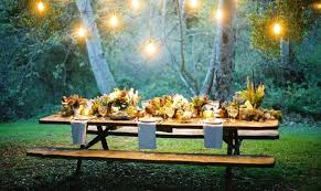 party table backyard settings an adorable cottage backyard outdoor summer
