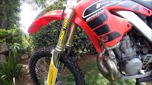 honda cr250r 2001 twostroke youtube