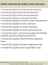 Bakery Clerk Job Description For Resume Top 8 Bakery Clerk Resume Samples