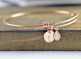 personalized bridesmaid gifts gold initial bracelet personalized sted bracelet