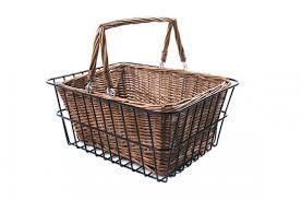 cane laundry hamper vintage rear basket reid cycles