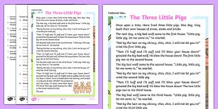pigs traditional tales differentiated reading