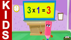 home math 3 times table song kids songs with lyrics
