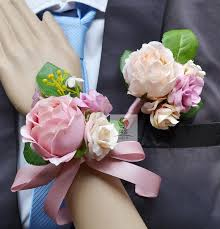Corsage And Boutonniere Cost Aliexpress Com Buy Handmade Wedding Corsage Groom Boutonniere