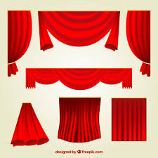 Different Designs Of Curtains Fantastic Set Of Red Curtains With Different Designs Vector Free