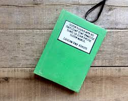 book club gift wood book club ornament with quote by louisa