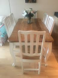 shabby chic dining table shabby chic dining table chairs second hand household furniture