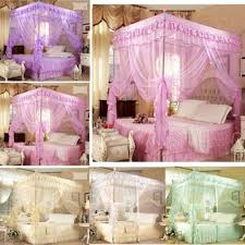 chinese mosquito net pink purple bed canopy twin sizes netting