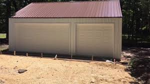 building a menards 3 car garage kit steel building steel roof
