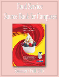 food service source book for campuses by federal buyers guide inc