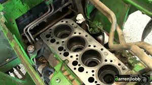 john deere head gasket change youtube