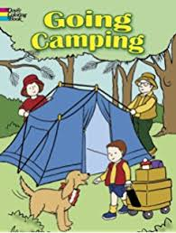 hiking camping coloring book kids susan
