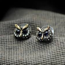 owl stud earrings antique gold color owl stud earrings eurekanine