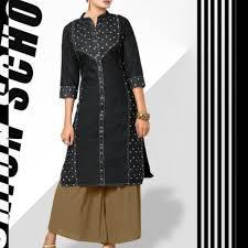 top design black denim kurti pattern 2 top design with front buttons