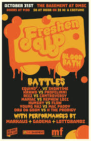 freshen up presents bloodbath a halloween rap battle des