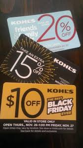 black friday store coupons kohl u0027s black friday sale starts tonight common sense with
