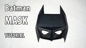 easy paper batman mask tutorial origami diy henry phạm youtube