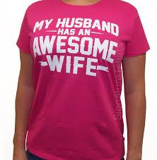 my husband has an awesome t shirt womens tshirt