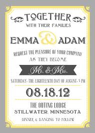 what to say on wedding invitations printable wedding invite and rsvp invitation set yellow and grey