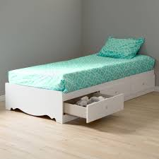 Walmart Bed Frame With Storage South Shore Mates Bed With Storage White Walmart With
