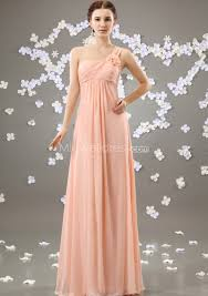 us 144 99 gorgeous one shoulder empire waist with hand made flower