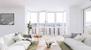 scandinavian color modern scandinavian apartment living room in white color decoration