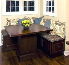 image of corner kitchen table with storage bench modern dining