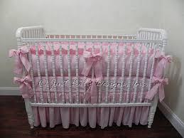 Solid Pink Crib Bedding Pink Baby Bedding Set Crib Bedding In Solid Pink