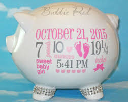 personalized baby piggy banks custom piggy bank etsy
