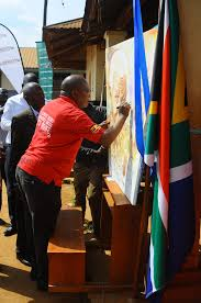Former Flag Of South Africa Celebrating Mandela Day In Uganda Kmaupdates