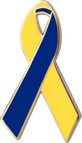blue and yellow ribbon yellow and blue awareness ribbons lapel pins