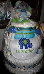 little brother diaper diaper cake baby shower gift boy
