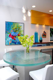 Glass Breakfast Bar Table Glass Breakfast Bar Table Kitchen Contemporary With Wood Floating