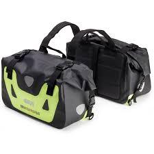 bike waterproofs givi wp405 waterproof motorcycle bike 25l soft side padded saddle