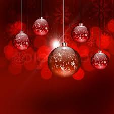 abstract background with tree balls and colored lights