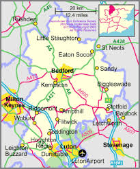 map uk villages bedfordshire tourist information on the towns and villages in