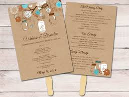 jar wedding programs kraft wedding program fan template ceremony program jar