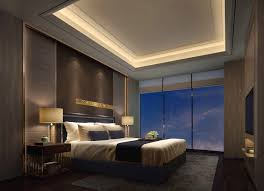 recessed master bedroom ceiling with hidden lights houses