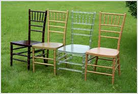 party chairs white wood chiavari chair with white cushion party table and
