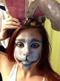 alice in wonderland costume spirit halloween the white rabbit makeup from alice in wonderland xx halloween