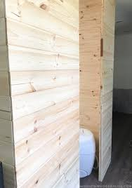 creating planked walls in our rv mountain modern