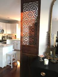 Repurpose Dining Room by Use An Old Door To Cover The Side Of Your Frig That Sticks Out So