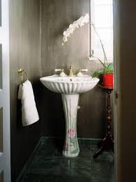 bathroom powder room ideas powder room designs wood accent wall in brick stone theme white