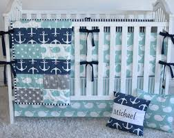 Whale Crib Bedding Anchors And Whales Crib Bedding Modern Nursery Modern Quilt